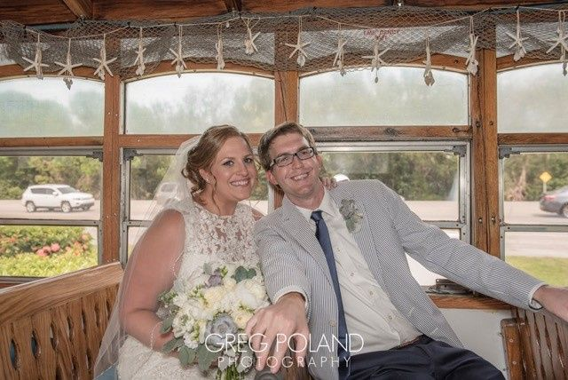 The couple inside the trolley