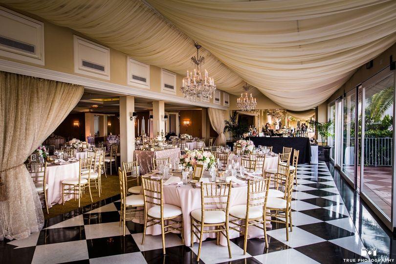 Beautiful indoor reception