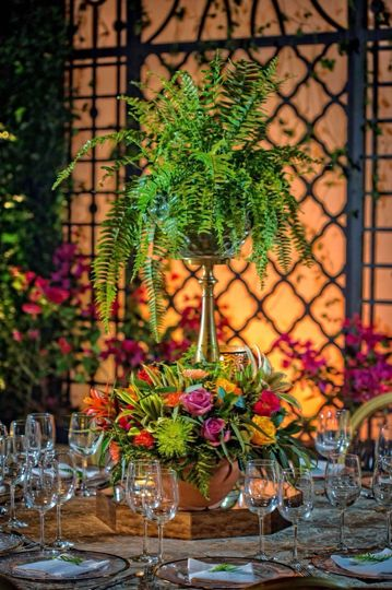 Tropical wedding design
