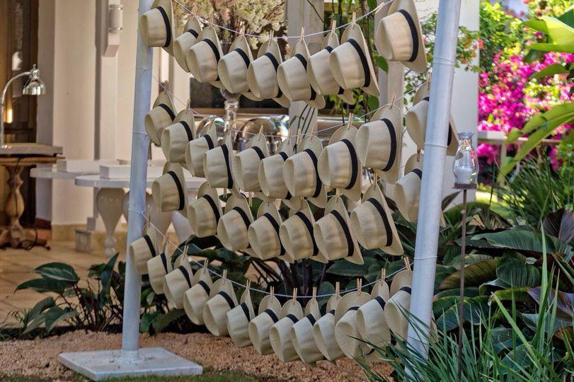 Tropical destination wedding