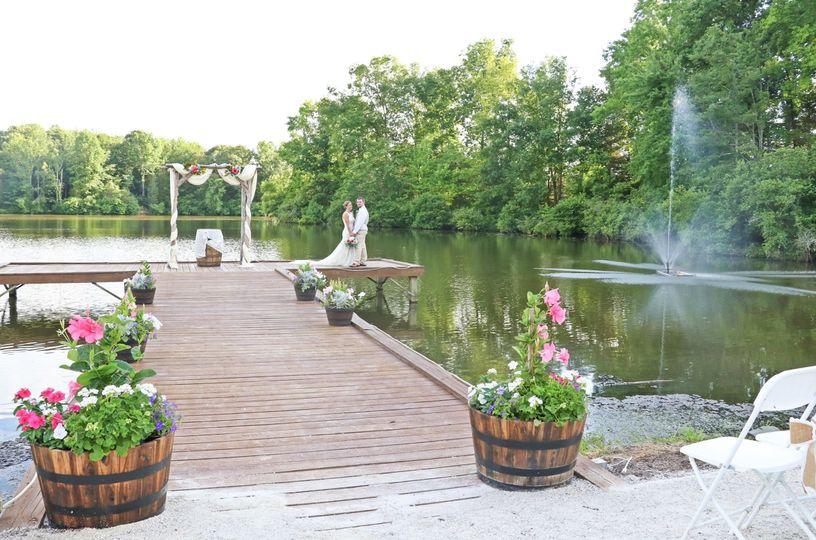 Dock ceremony area