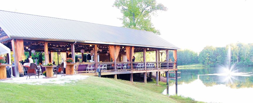 Side view of the pavilion (from the fire pit area)