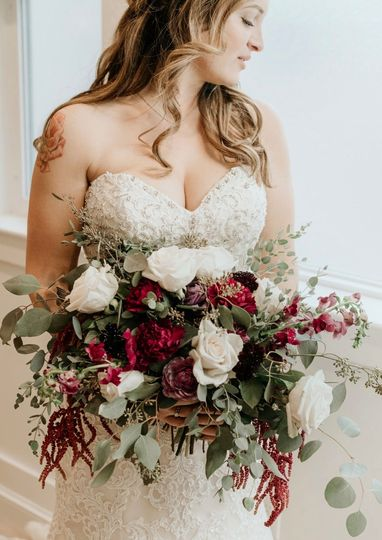 Airy hand tied bouquet