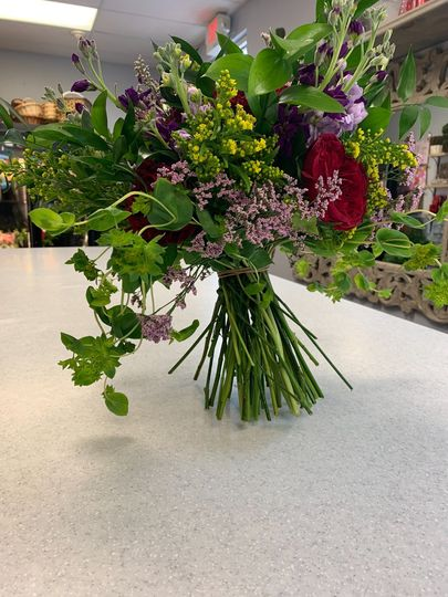 Spring bouquet of wildflowers