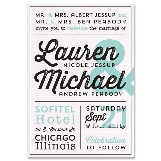"Poster Retro Wedding Invite:    This wedding invitation shouts ""We're getting married!"" for you!..."