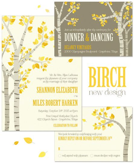 Birch trees, simply put, are enchanting and romantic regardless of the season! Our Birch Wedding...