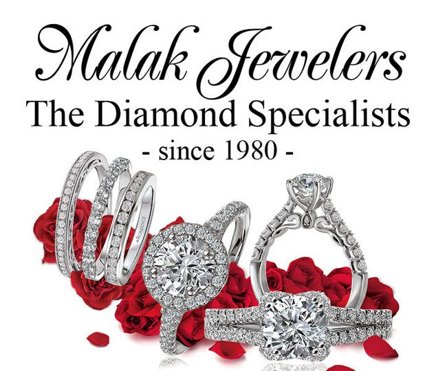 e896e6dd63ebdbb0 Malak Jewelers logo rings and roses