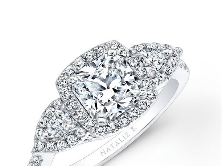 Tmx 1423498160505 18k White Gold Halo Diamond Engagement Ring With P Charlotte wedding jewelry