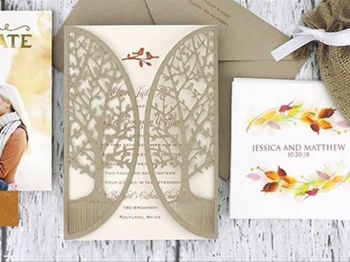 Tmx 1521468710 3bad69ee30d14b6e 1521468681 98f1baa5e4d21730 1521468678099 3 FB Covers FallWedd Schenectady, NY wedding invitation
