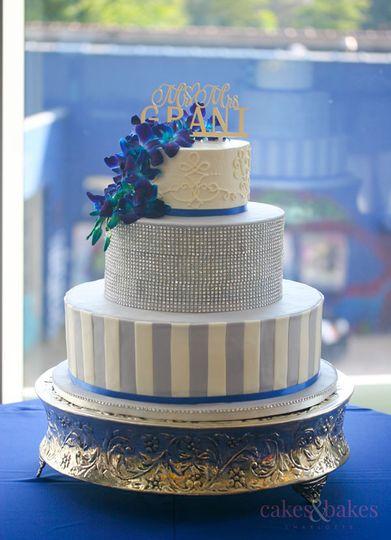 Rhinestone wrap cake