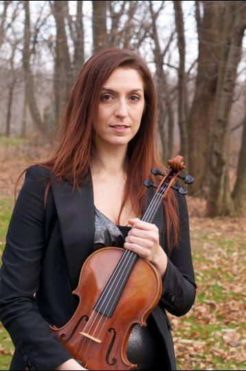 Portrait of violinist