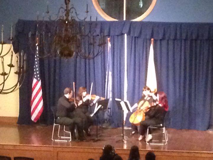 String quartet on stage