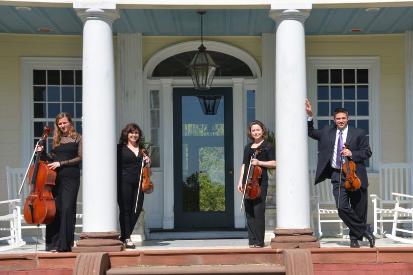 String quartet at the front porch