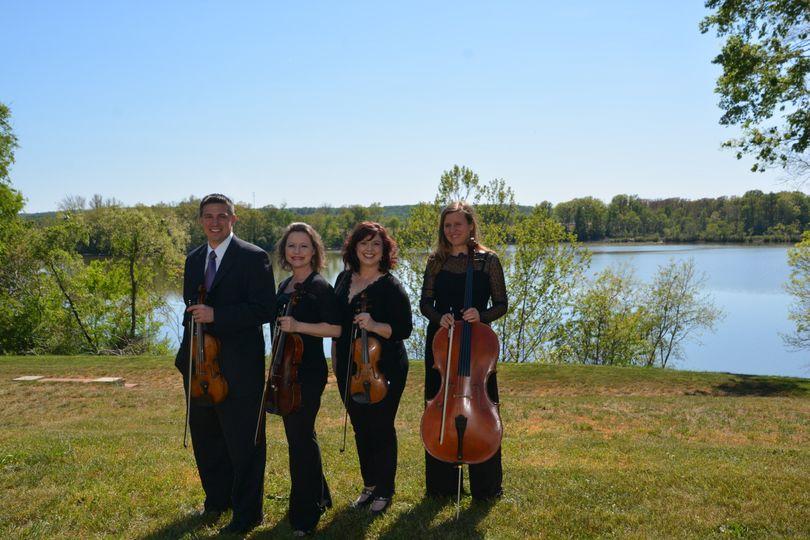Quartet by the lake