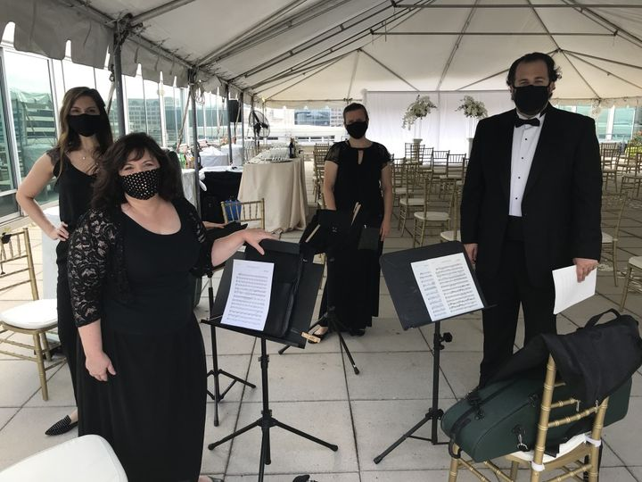 Tent/outdoor Covid wedding