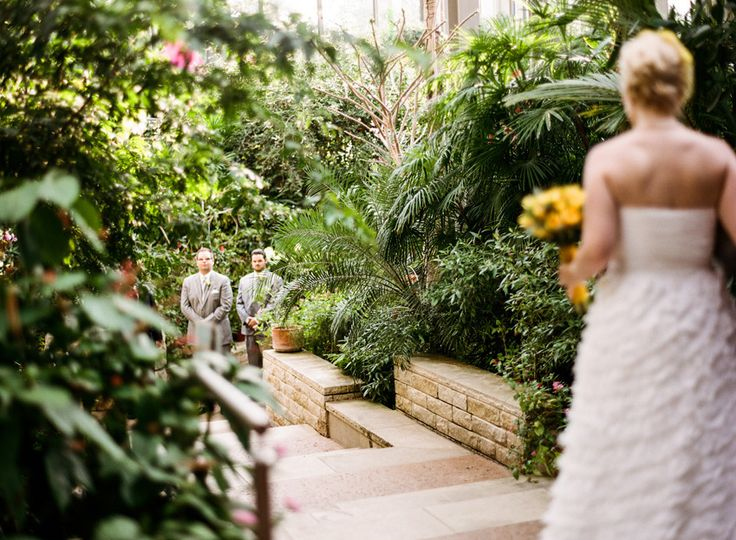 A butterfly house wedding