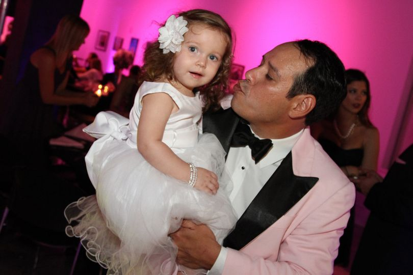 The groom and flower girl