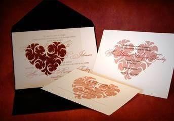 Pocket Invitation : Thorny Heart Design