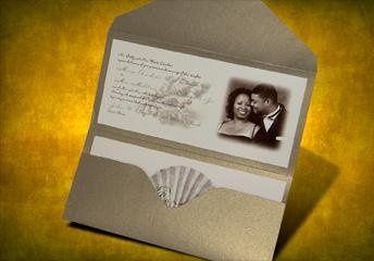 Pocket Invitation : Photo & Seashell Theme - elongated