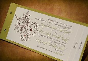 Passport  All-Inclusive Invitation : 3 tiers (invitation/map/detachable rsvp postcard)