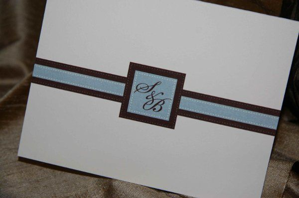 Personal Stationery : printed ribbon and monogrammed buckle design