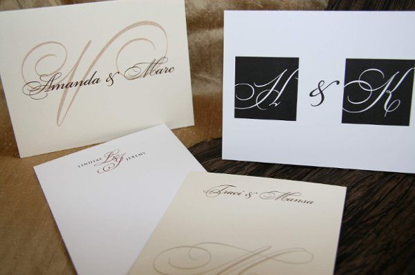 Custom designed Thank you Cards : personal stationery designed with monograms, names & artwork