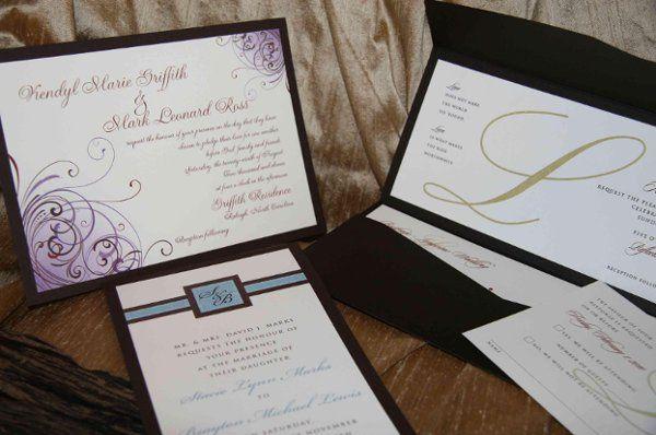 Custom Invitations : mounted, pocket styles