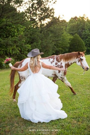 Bride brought her own horses