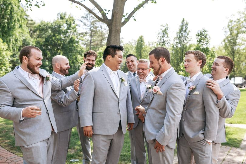 Chase and his groomsmen