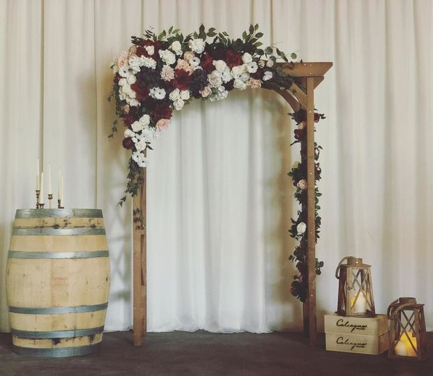 Wedding pipe & drape / arbor & decor