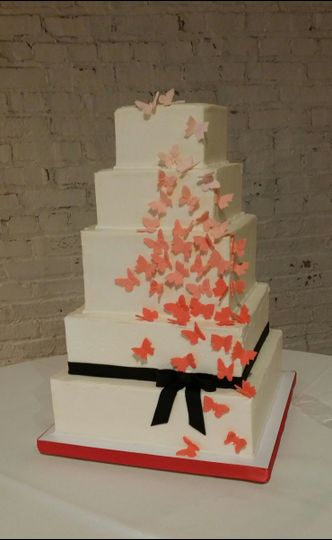 white chocolate buttercream ombre butterflies