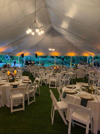 Sunken Gardens Tent Reception