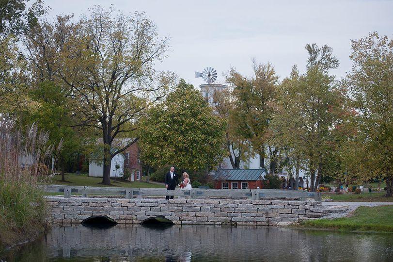 Bridge, Pond and Park