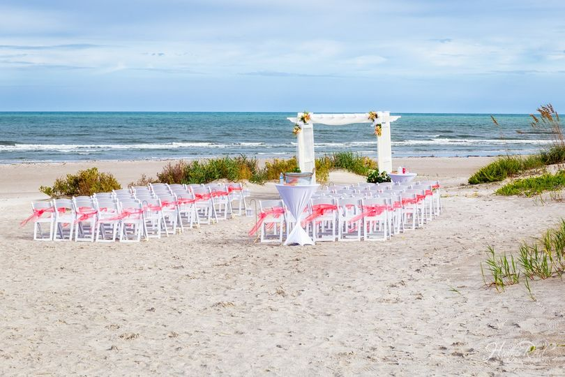 Ceremony down on the beach