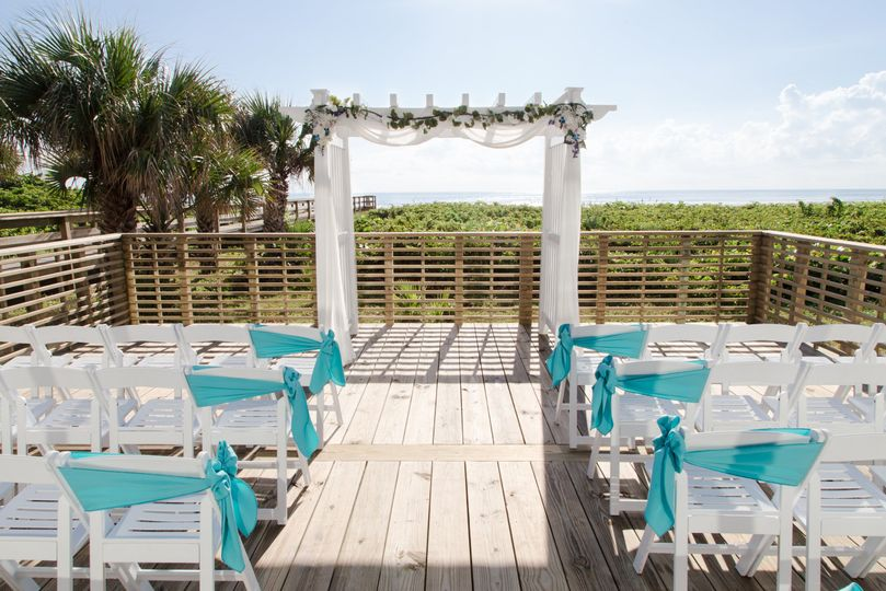 Saying I do on the deck