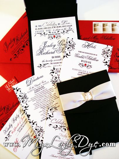 wedding invitations staged with watermark all vertical images 111