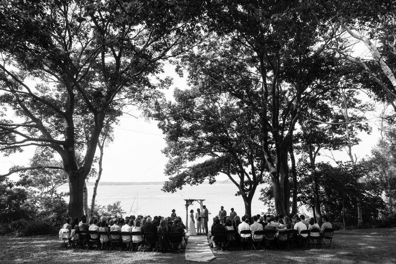 Cow Island wedding