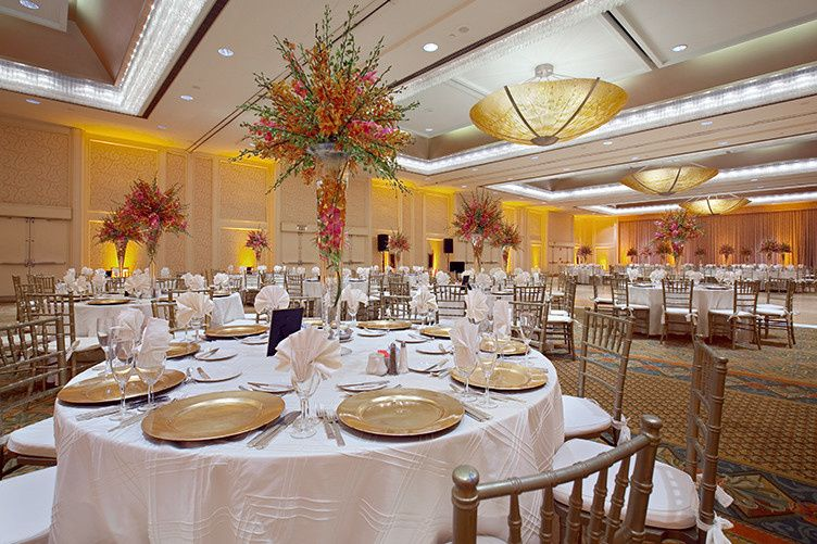 International ballroom wedding