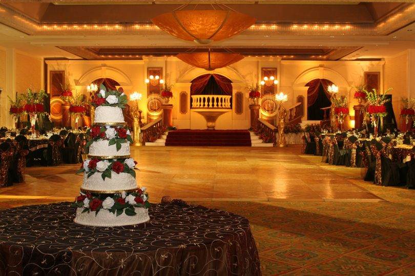 International ballroom wedding