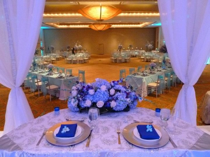 View of the ballroom from the bridal table