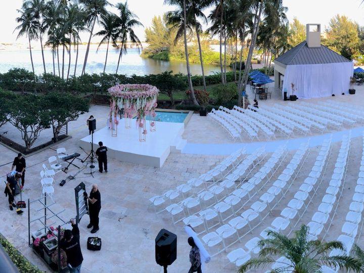 Tmx Pool Deck Ceremony Lagoon View 51 183424 159734567418631 Miami, FL wedding venue