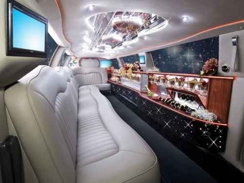Interior of a limousine