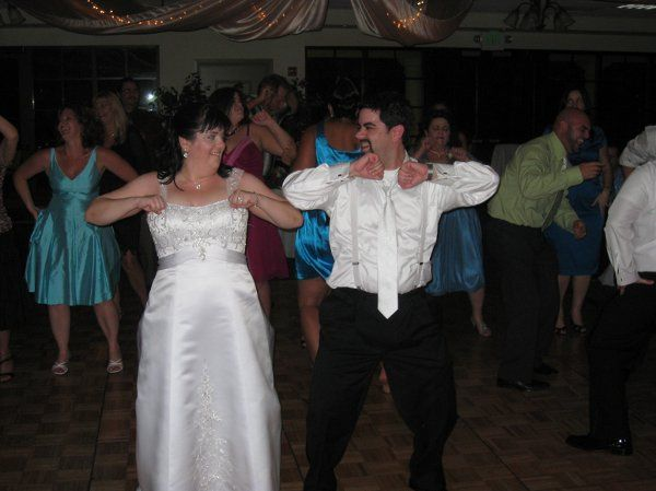 Newlyweds leading the dance