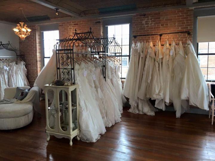 Dresses lined inside the shop