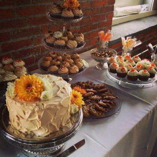 Decadent dessert buffet