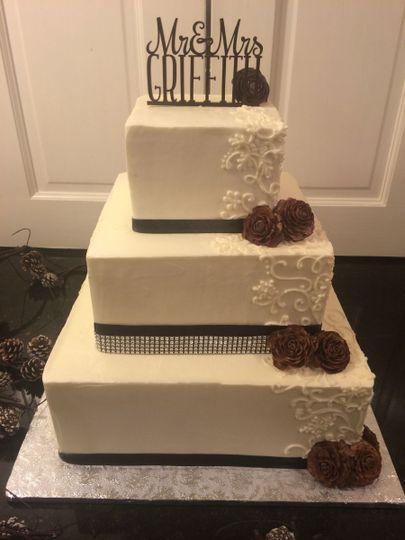 Elegant bejeweled cake