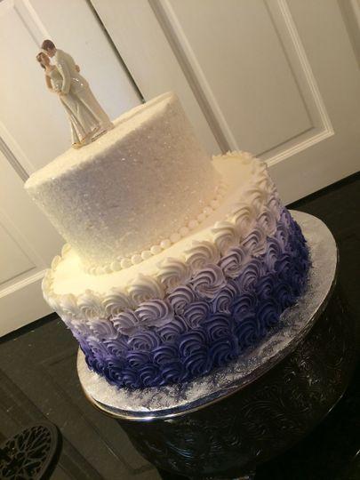 Beautiful lavender ombré cake