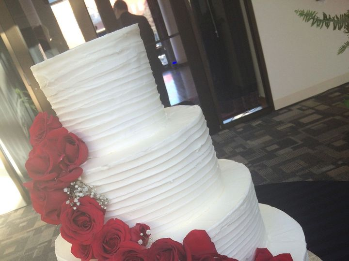 Tmx 1437588727360 Roses Columbia, PA wedding cake