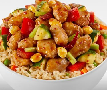Kung pao chicken with fried rice