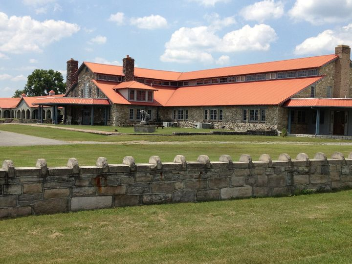 Historic rock walking horse barn